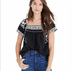 NWT MADEWELL Embroidered Wildfield Top XS